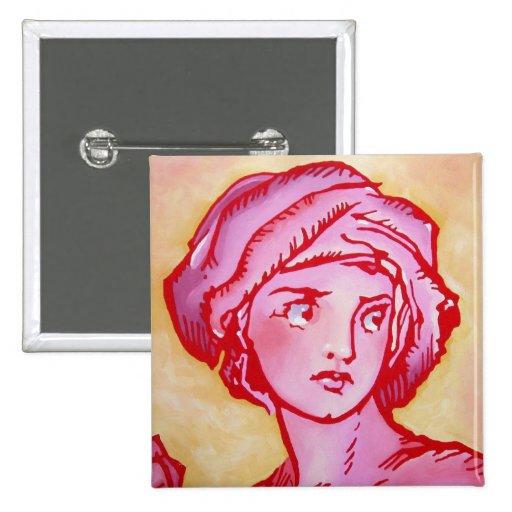 Oz Pinback - Rose Princess Pinback Button