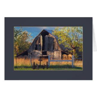 Ozark Mountain Barn Card