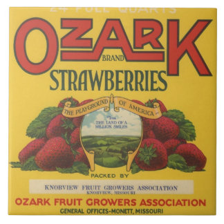 Ozark Strawberry Crate Label Tile