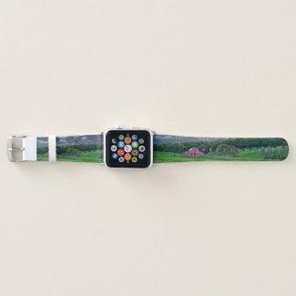 Ozarks Cloudy Farm Sunset Apple Watch Band
