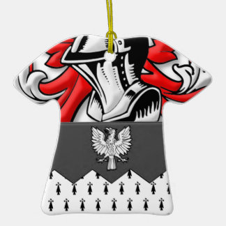 Ozment Coat of Arms Double-Sided T-Shirt Ceramic Christmas Ornament