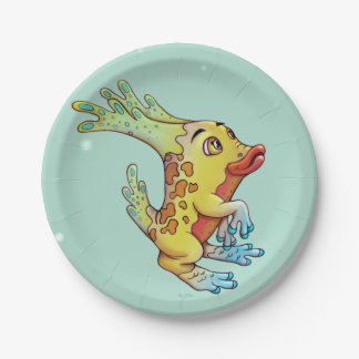 OZON CUTE ALIEN CARTOON  Paper Plates 7""