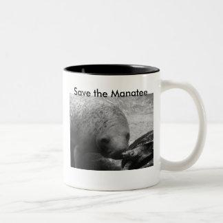 P1100366  Manatee & Turtle    300, Save the... Two-Tone Mug
