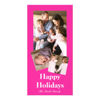 P24 Mad for Magenta! Pink Color Customizable Customized Photo Card