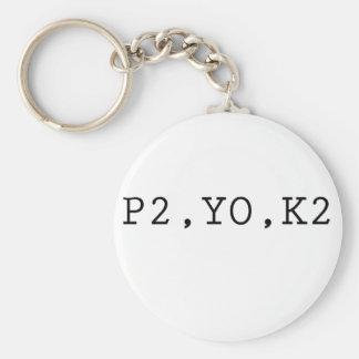 P2, YO, K2 KEY RING