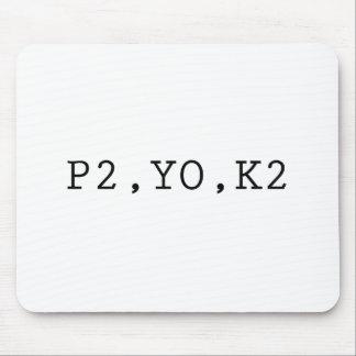 P2, YO, K2 MOUSE MAT