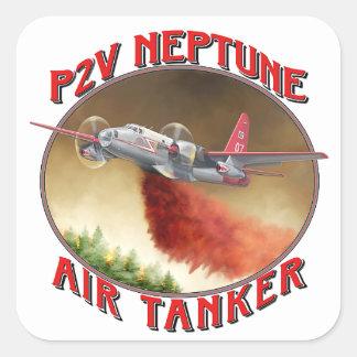 P2V Neptune Airtanker Square Sticker