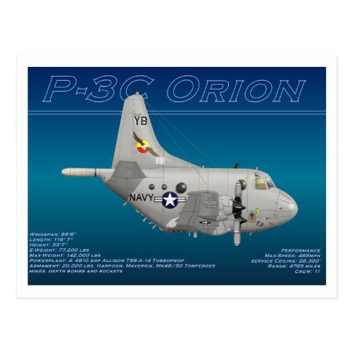 P3C Orion Collector Card Post Card