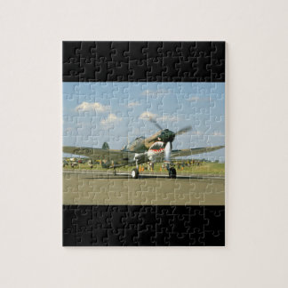 P40 Curtis W/ Fierce Face, Taxiing_WWII Planes Jigsaw Puzzle