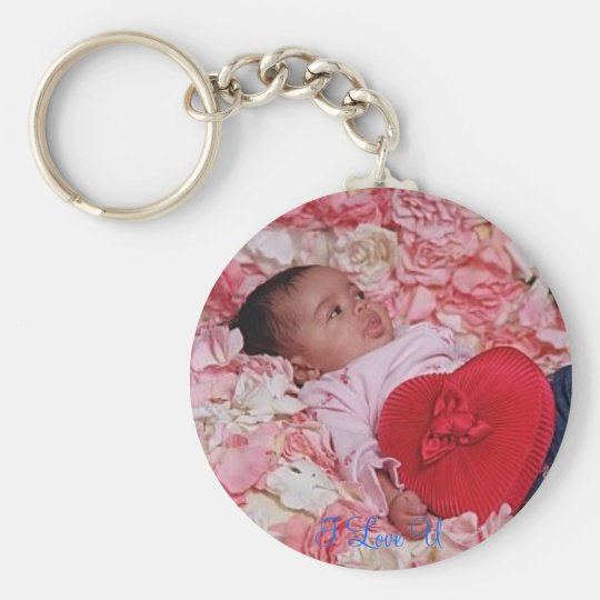 P42801014_020_257_022007, I Love U Basic Round Button Key Ring