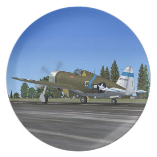 P47 Thunderbolt Fighter Plane Plate