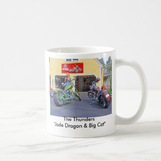 "P5020136, The Thunders""Jade Dragon & Big Cat"" Basic White Mug"