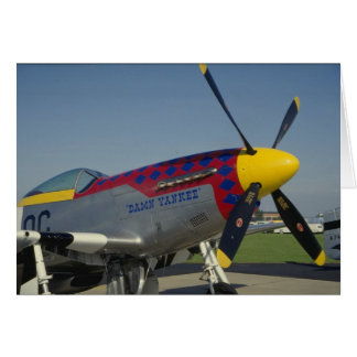P51 Mustang nose cone propeller showing nose art Card