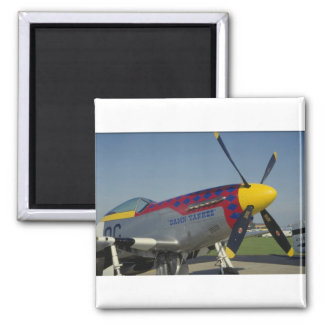 P51 Mustang nose cone propeller showing nose art Refrigerator Magnets