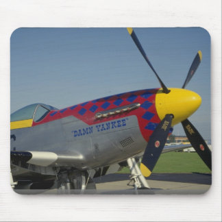 P51 Mustang nose cone propeller showing nose art Mouse Pad