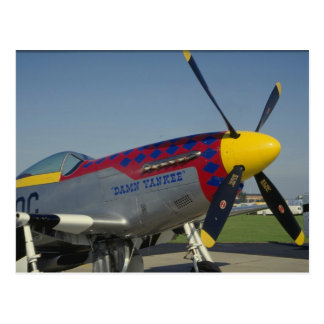 P51 Mustang nose cone propeller showing nose art Postcards