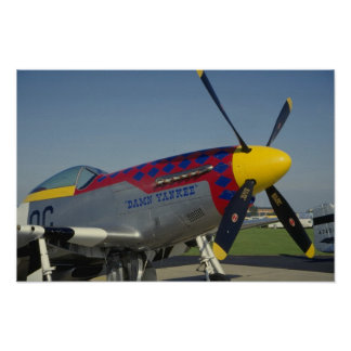 P51 Mustang, nose cone/propeller showing nose art Poster