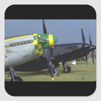P51 Mustang Noses_WWII Planes Square Sticker