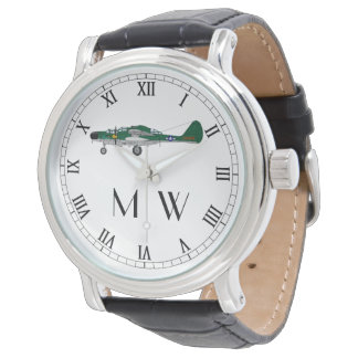 P61 Black Widow | Monogrammed classic plane Watch