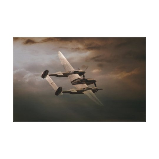 P-38 In The Pacific.jpg Canvas Print