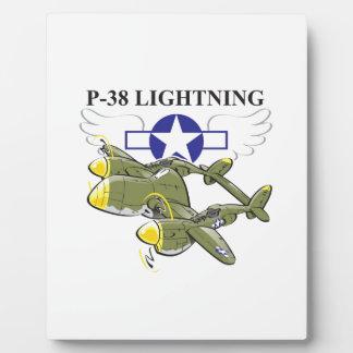 p-38 lightning plaque