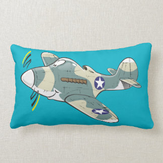 P-39 aircobra cartoon plane lumbar cushion