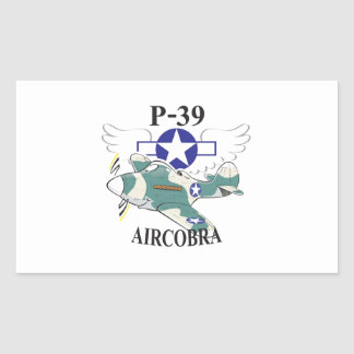 p-39 aircobra rectangular sticker