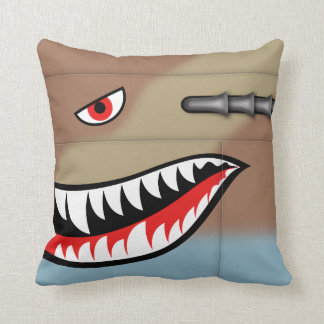 P-40 warhawk nose art cushion