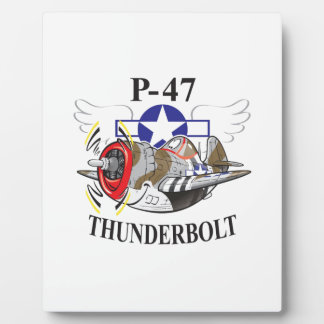 P-47 thunderbolt display plaque