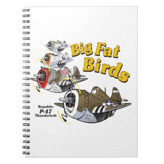 P-47 thunderbolt in formation notebook