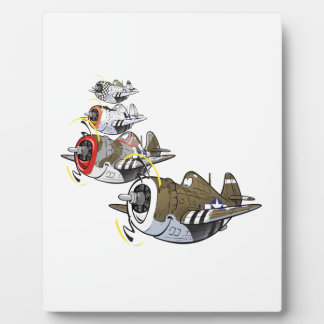 P-47 thunderbolt in formation plaques
