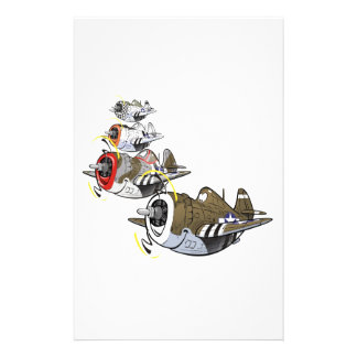 P-47 thunderbolt in formation stationery