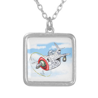 p-47 - THUNDERBOLT Silver Plated Necklace