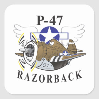 p-47 thunderbolt square sticker