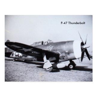 P-47 THUNDERBOLT WWII | aircraft Postcard