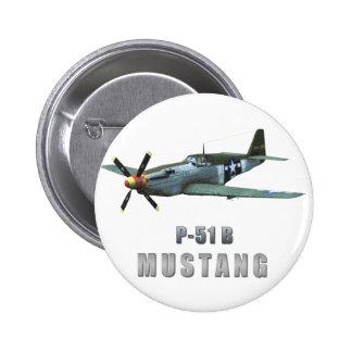 P-51 B Mustang Pinback Button