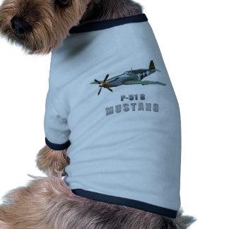 P-51 B Mustang Dog Tee Shirt