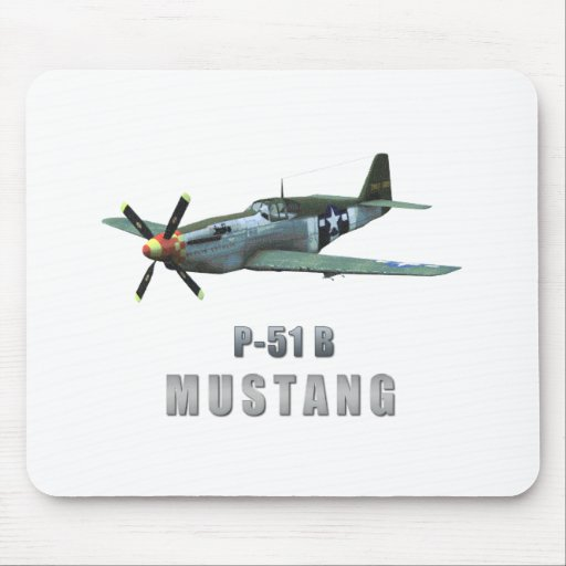 P-51 B Mustang Mouse Pad