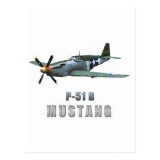 P-51 B Mustang Postcard