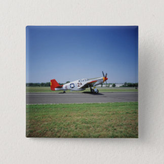 P-51 C Tuskegee Red Tail airplane at the CAF Air 15 Cm Square Badge