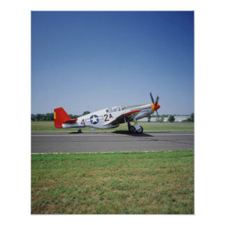 P-51 C Tuskegee Red Tail airplane at the CAF Air Poster