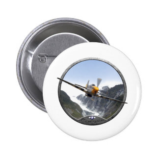 P-51 Mustang 6 Cm Round Badge