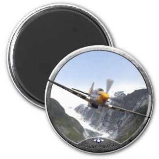 P-51 Mustang 6 Cm Round Magnet