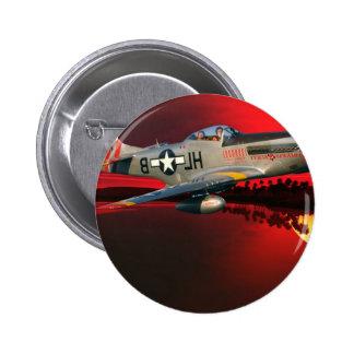 p-51 Mustang 6 Cm Round Badge