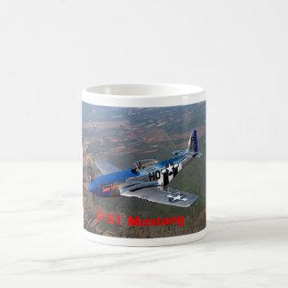 p-51 mustang basic white mug