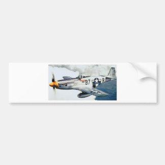 P-51 MUSTANG CAR BUMPER STICKER