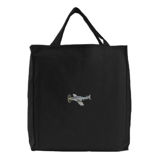 P-51 Mustang Embroidered Tote Bag