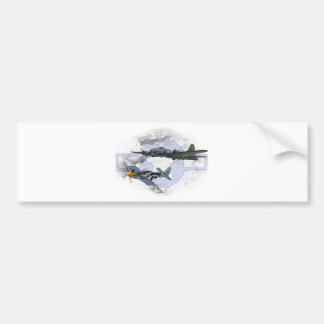 P-51 Mustang flying escort Bumper Sticker