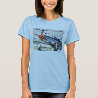 P-51 Mustang Ladie's Baby Doll T-Shirt