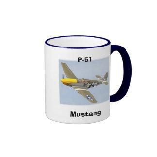p-51-mustang ringer coffee mug
